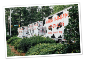 Marrins' Moving trucks parked in Holly Springs NC