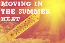 moving in the summer heat graphic