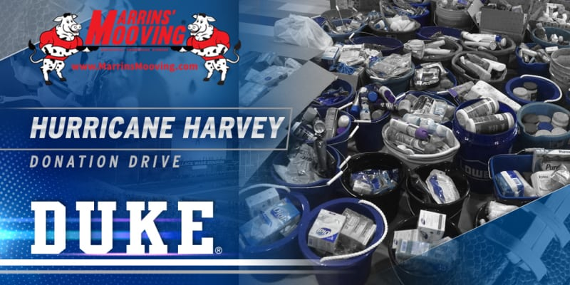 Hurricane Harvey Donation Drive in Support with Duke University